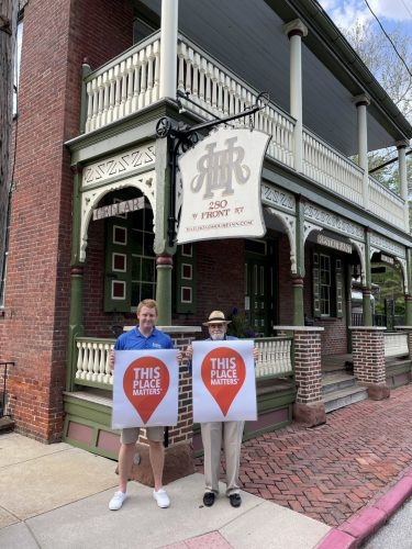 Researchers from Elizabethtown College Study History of Canals and Front Street Homes in Marietta